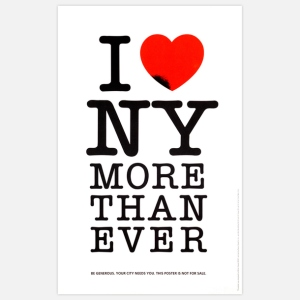 I Love NY More Than Ever Print by  Milton Glaser